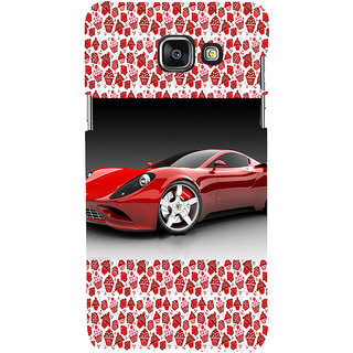 ifasho Stylish RED Car Back Case Cover for Samsung Galaxy A5 A510 (2016 Edition)