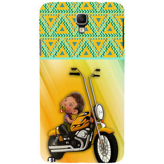 ifasho baby riding bike animated design Back Case Cover for Samsung Galaxy Note3 Neo