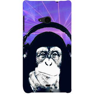 ifasho Monkey with headphone Back Case Cover for Nokia Lumia 535