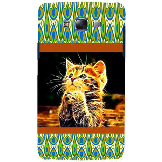 ifasho Cat with big eyes animated designed Back Case Cover for Samsung Galaxy J5