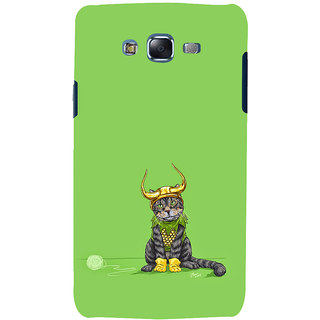 ifasho Animated Design cat with crown Back Case Cover for Samsung Galaxy J7 (2016)