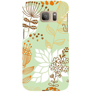 ifasho Animated Pattern painting colrful design cartoon flower with leaves Back Case Cover for Samsung Galaxy S7 Edge