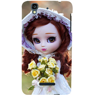 ifasho Girl with flower in hand Back Case Cover for YU Yurekha