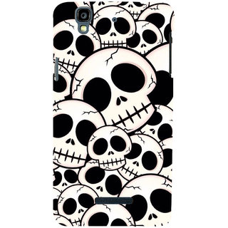 ifasho Modern  Design skeleton Pattern Back Case Cover for YU Yurekha