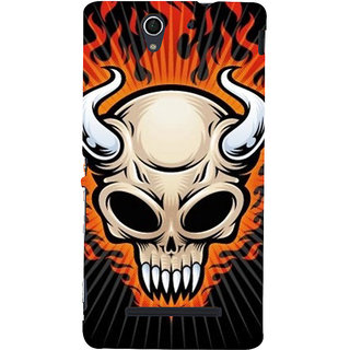 ifasho Modern  Design animated skeleton Back Case Cover for Sony Xperia C3 Dual