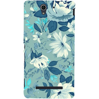 ifasho Modern Art Design animated cloth Pattern of flower Back Case Cover for Sony Xperia C3 Dual