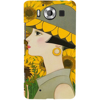 ifasho Painted Girl and flower Back Case Cover for Nokia Lumia 950