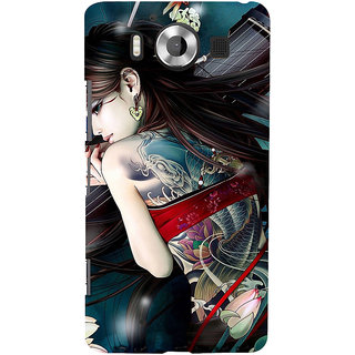 ifasho tatoo girl Back Case Cover for Nokia Lumia 950