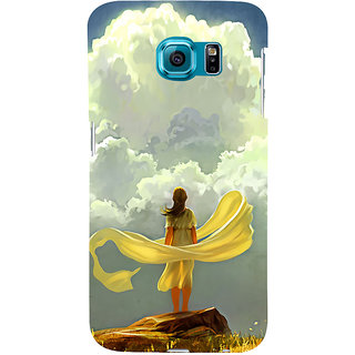 ifasho Girl waiting art work painting Back Case Cover for Samsung Galaxy S6 Edge Plus
