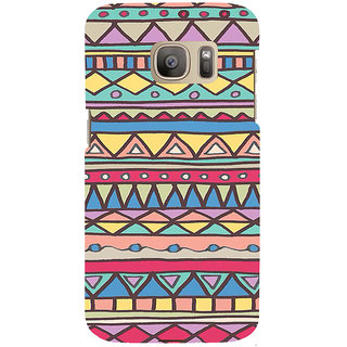 ifasho Animated Pattern colrful 3Dibal design Back Case Cover for Samsung Galaxy S7 Edge