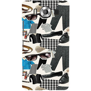 ifasho Modern Art Design Pattern man dress shoes spec belt Back Case Cover for Nokia Lumia 950