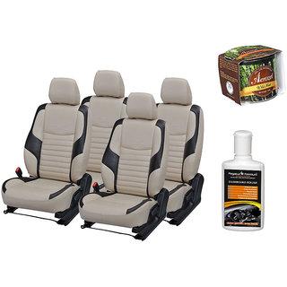 Pegasus Premium Seat Cover for  Toyota Etios With Aerozel Wild Mist Gel Perfume and Dashboard polish