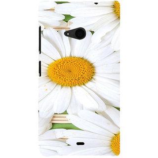 ifasho Pattern white flower Back Case Cover for Nokia Lumia 535