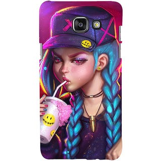 ifasho Girl drinking cold drink Back Case Cover for Samsung Galaxy A5 A510 (2016 Edition)