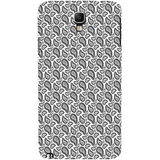 ifasho Animated Pattern design black and white flower in royal style Back Case Cover for Samsung Galaxy Note3 Neo
