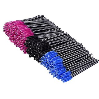 eBoot 200 Pieces Multicolor Disposable Eyelash Mascara Brushes Wands Applicator Eye Lash Makeup Applicators Brush Kit