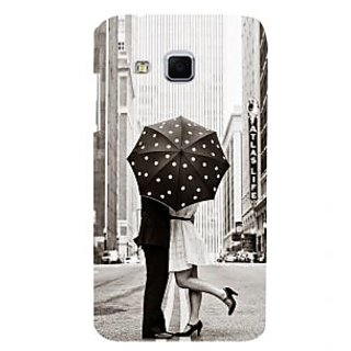 ifasho couple kissing in rain with umbrella Back Case Cover for Samsung Galaxy J3
