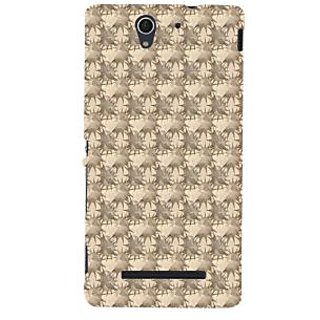 ifasho Modern Art Design animated cloth Pattern of star Back Case Cover for Sony Xperia C3 Dual