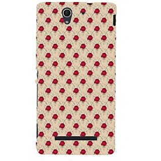 ifasho Animated Pattern small red rose flower Back Case Cover for Sony Xperia C3 Dual