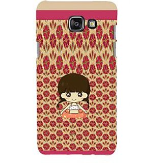 ifasho Cute Girl animated Back Case Cover for Samsung Galaxy A5 A510 (2016 Edition)