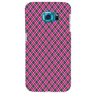 ifasho Colour Full Square Pattern Back Case Cover for Samsung Galaxy S6 Edge Plus
