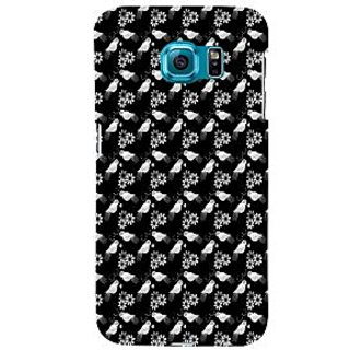 ifasho Animated Pattern birds and flowers Back Case Cover for Samsung Galaxy S6 Edge Plus