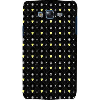 ifasho Modern Art Design Pattern with Lot Of small heart and anchor Back Case Cover for Samsung Galaxy J7