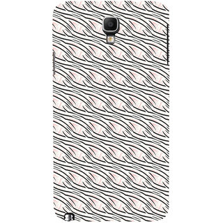 ifasho Design lines pattern Back Case Cover for Samsung Galaxy Note3 Neo