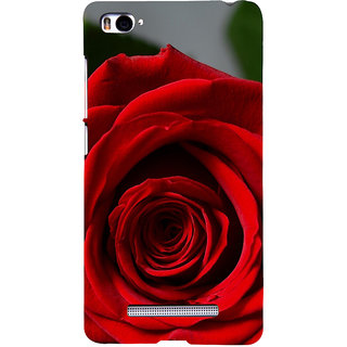 ifasho Red Rose Back Case Cover for Redmi Mi4i