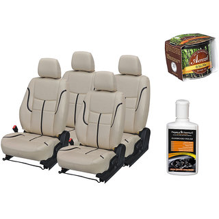Pegasus Premium Seat Cover for  Hyundai Xcent With Aerozel Wild Mist Gel Perfume and Dashboard polish