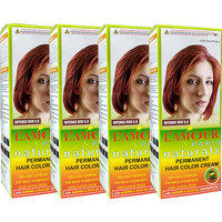 L'amour Paris Naturals Permanent Intense Red 5.6 Cream Hair Color - Set Of 4