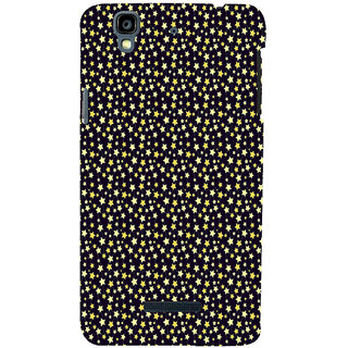 ifasho Animated Pattern colourful littel stars Back Case Cover for YU Yurekha