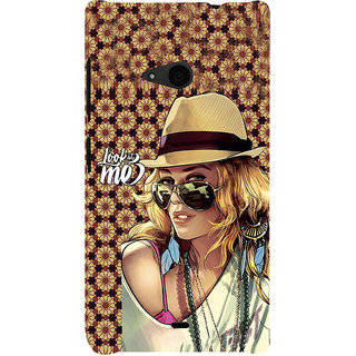 ifasho Look at me Girl Back Case Cover for Nokia Lumia 535