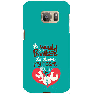 ifasho Heart Break Girl Back Case Cover for Samsung Galaxy S7 Edge