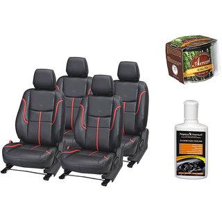 Pegasus Premium Seat Cover for  Honda Amaze With Aerozel Wild Mist Gel Perfume and Dashboard polish