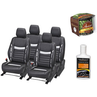 Pegasus Premium Seat Cover for  Volkswagen Polo With Aerozel Wild Mist Gel Perfume and Dashboard polish