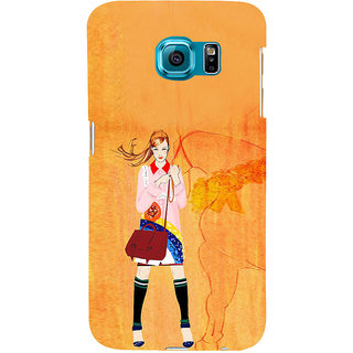 ifasho Girl with Horse Back Case Cover for Samsung Galaxy S6