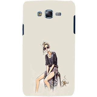 ifasho modern Girl painting Back Case Cover for Samsung Galaxy J7 (2016)
