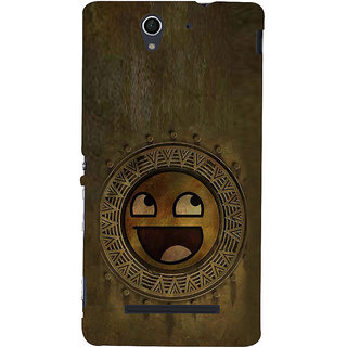 ifasho Smilee on wood Back Case Cover for Sony Xperia C3 Dual