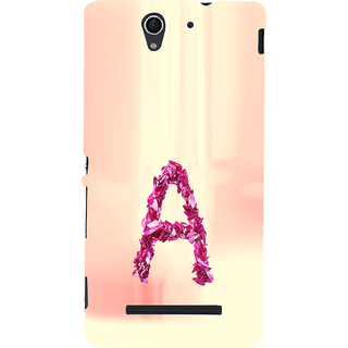 ifasho alphabet name series A Back Case Cover for Sony Xperia C3 Dual