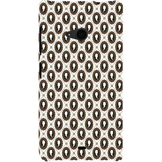 ifasho Animated  Royal design with Queen head pattern Back Case Cover for Nokia Lumia 535