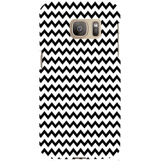 ifasho Animated Pattern of Chevron Arrows royal style Back Case Cover for Samsung Galaxy S7 Edge
