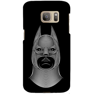 ifasho Animated man face cartoon with horn Back Case Cover for Samsung Galaxy S7 Edge