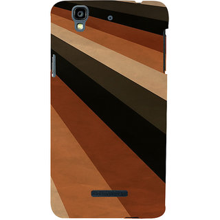 ifasho Design lines of different colours pattern Back Case Cover for YU Yurekha