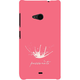 ifasho Passinate Quote Back Case Cover for Nokia Lumia 535