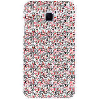 ifasho Modern Theme of colorful Squre inside square and dots Back Case Cover for Samsung Galaxy J3