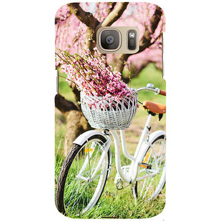 ifasho Cycle in a park with flowers and grass Back Case Cover for Samsung Galaxy S7 Edge