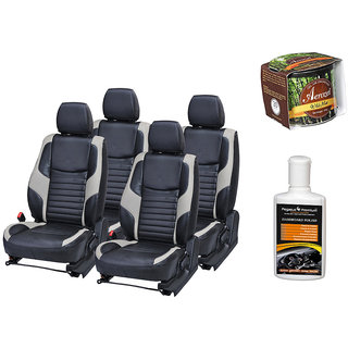 Pegasus Premium Seat Cover for  Honda Amaze With Aerozel Wild Mist Gel Perfume and Dashboard polish