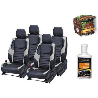 Pegasus Premium Seat Cover for  Maruti Baleno With Aerozel Wild Mist Gel Perfume and Dashboard polish