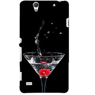 ifasho Rose in water glass with Drop of water Back Case Cover for Sony Xperia C4